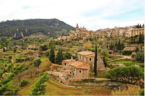 Rompecabezas para Adultos Una Vista De Valldemossa Mallorca Baleares España Puzzle 1000 Piezas DIY para Regalo De Juguete Adulto para Niños