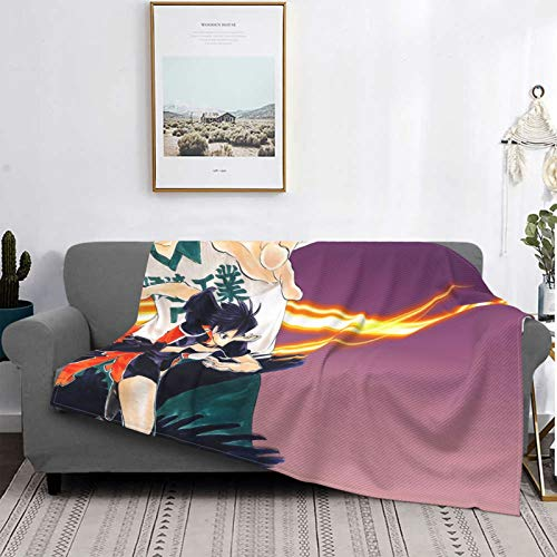 Haikyuu Manta súper suave de micropelo adulto niños franela ligero y cálido y cómodo sofá sala de estar cama caliente ropa de cama 60 x 50 pulgadas
