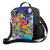 Bibuwaw Lunch Box Anime-Kirby Portable Insulated Bag Tote Durable Lightweight Waterproof Pack for Hiking Picnic Fishing Outdoor Activities