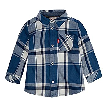 Levi s Baby Boys  Long Sleeve Button Up Shirt Galaxy Blue 18M