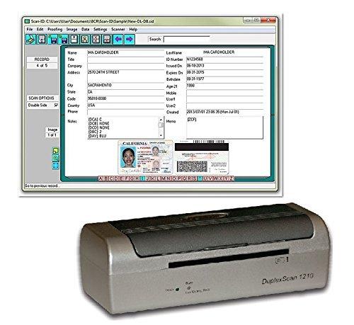Duplex Medical Insurance Card and ID Card Scanner (w/Scan-ID LITE