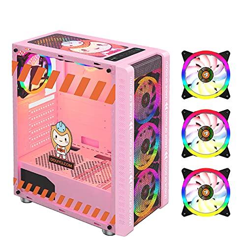 Staright 330-9 Gaming Computer Case Host Suporta ATX MICROE ATX Placa-mãe 240mm Cooler de Água Gabinete de Jogo Case RGB Rosa