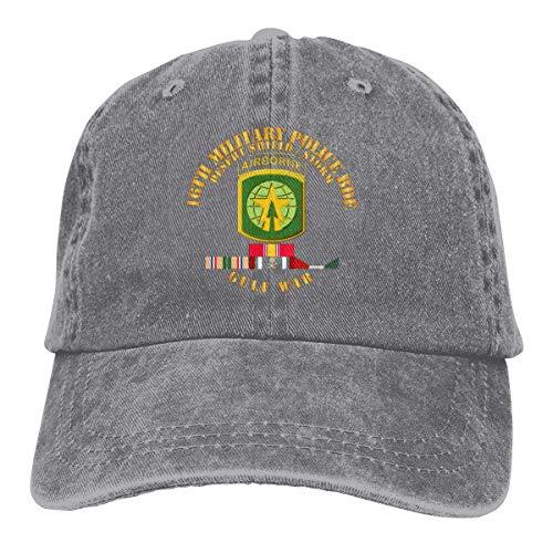 AllenPrint Gorra de Snapback,16th Police Military BDE Desert Storm Shield Denim Dad Hats Gorra de béisbol Ajustable