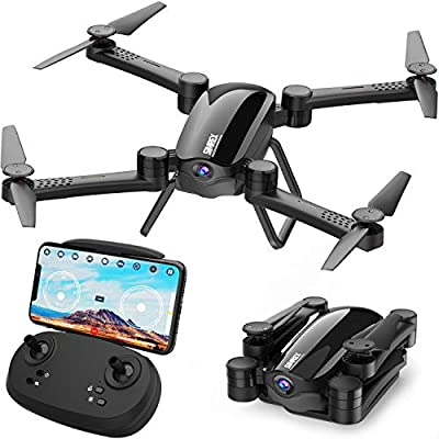 SIMREX X900 Drone Optical Flow Positioning RC Quadcopter with 1080P HD Camera, Altitude Hold Headless Mode, Foldable FPV Drones WiFi Live Video 3D Flips 6axis RTF Easy Fly Steady for Learning Black