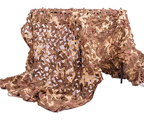 Velity Filet de camouflage pour chasse, camping, forêt, extérieur, jardin, fête, parasol, 3 x 4