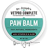 Dog Paw Balm - Natural Vet Formulated Dog Paw Protection Wax and Pad Moisturizer - Pet Paw Soother Lotion - Dog Foot Cream and Palm Butter - Heals, Soothes, and Protects Dry, Cracked Paws and Noses