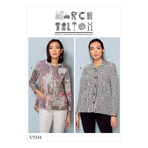 Vogue Patterns Patrons de Veste, Multicolore, Tailles 14–22