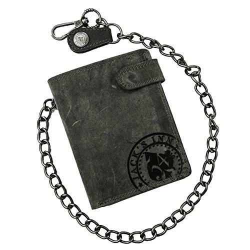Jack's Inn 54 Rock Hard Styles - Negroni Geldbörse mit Kette Hochformat schwarz