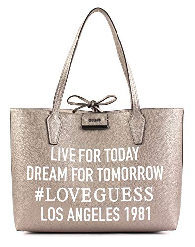 GUESS Bobbi Inside Out Pewter Stone Borsa a tracolla HWMH64-22150-PWS