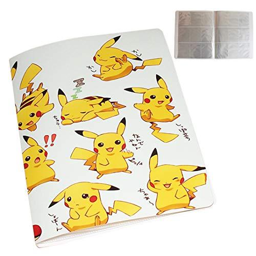 UHIPPO Album de Stockage Compatible Cartes Pokemon, Classeur Compatible Carte Pokémon GX Mega et EX, Porte Compatible Cartes Pokemon, 18 Pages-9 Grilles par page-324 Cartes (Dos à Dos) (PKQ)