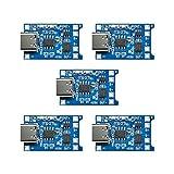 ZHITING 5pcs TP4056 Tipo-C Interfaz de Entrada USB 5V 1A 18650 Tablero de Carga del módulo del Cargador de batería de Litio con función de protección Dual