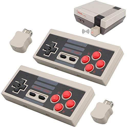 2pcs Wireless Game Controller for NES Classic Edition, NiceCo 2.4G No-Wired Gamepad Joypad with Receiver for NES Classic Gaming System Console (White)