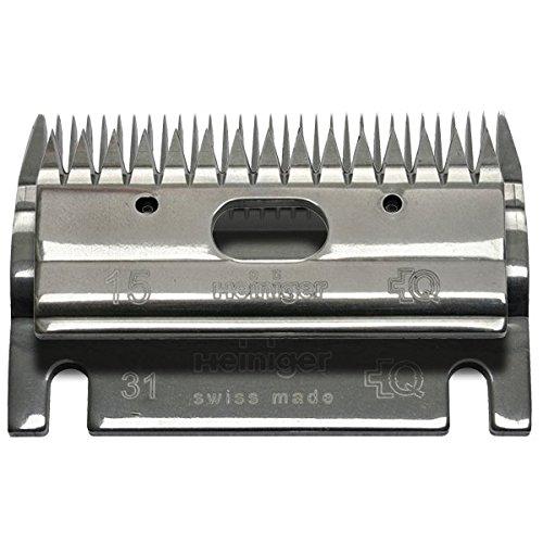 Heiniger 703 530 - Ricambio per tosatrice - Lama Heniger 703 530 superiore 15 denti, inferiore a 31 denti, altezza di taglio 2-4 mm