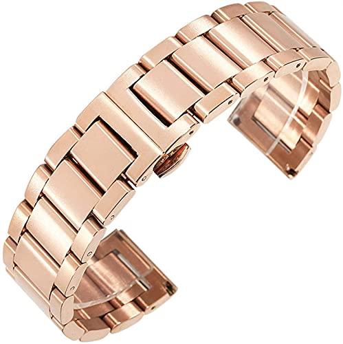 chenghuax Reloj Correa, 18 mm 20 mm 22 mm 24 mm Strap de Acero Inoxidable Strap Hombres Mujeres Metal Sólido Muñeca Pulsera Pulsera Reloj de Reloj con Herramientas Pulsera