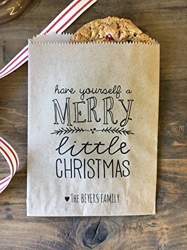 Deer 12 bags Treat bags exchange Class Treats Cookie Swap Personalized Christmas Cookie bags Reindeer favor bags Holiday baking
