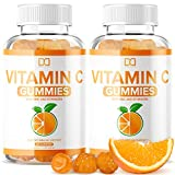 Vitamin C Gummies with Zinc Echinacea for Adults Kids, Chewable Vegan Supplement for Immune Support - Gummy Alternative to Tablet Powder Chewables, Liquid Drops, Pills Capsules Packets (2 Pack)