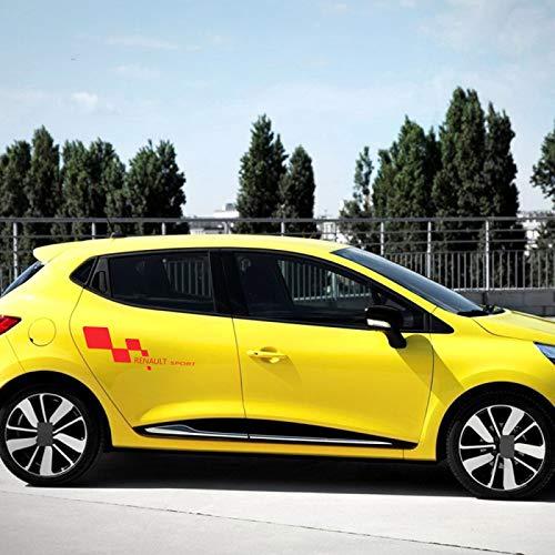 SBCX para Renault Clio Megane Duster Tuning, Pegatina de Vinilo para Puerta Lateral de Coche, calcomanía Deportiva de Carreras,Accesorios para Coche, 2 uds.