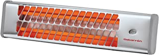 Gabarrón IC-1200 Calefactor infrarrojo, 1200 W, Acero Inoxidable, 2 Velocidades, Gris metalizado