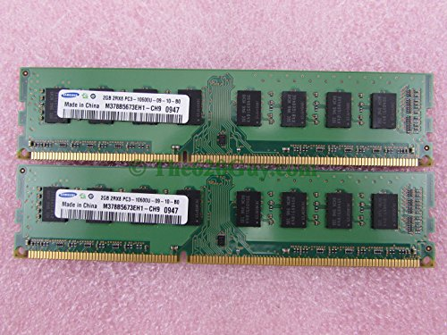 Samsung 4GB 2x 2GB 2Rx8 PC3-10600U DDR3 1333 Desktop Memory Kit M378B5673EH1/FH0