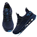 TSIODFO Boys Girls Sneakers Little Kids Athletic Walking Shoes mesh Breathable Big Kid Youth Fashion Athletic Sport Running Tennis Jogging Shoes Non Slip Navy Blue Big Kid Size 7