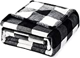 Adigaber Buffalo Plaid Throw Blanket Soft Flannel Fleece Cozy Lightweight for Couch Bed Fit All Seasons Decorative Blankets