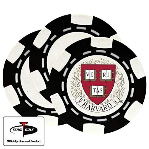 New Golfballs.com Classic Harvard Crimson Poker Chips - 3 Pack