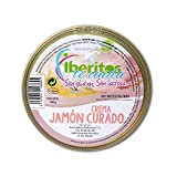 Iberitos - Paté de Jamon Curado sin Lactosa - 1 Lata x 140 gr