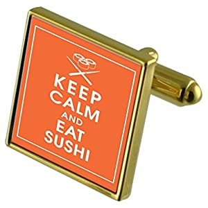 Select Gifts Sushi Sterling Silver Cufflinks Optional Engraved Box