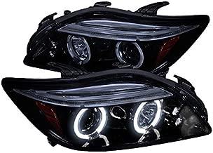 Spec-D Tuning 2LHP-TC05G-TM Black Projector Headlight (Halo Gloss Housing Smoke Lens)