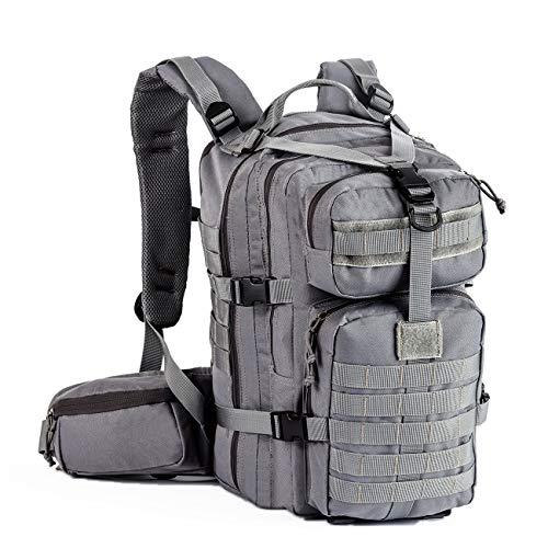 Gelindo Militärischer taktischer Rucksack, Armee-MOLLE-Tasche für Jagd, Camping, Wandern, 35 l, Unisex-Erwachsene, grau, 35L