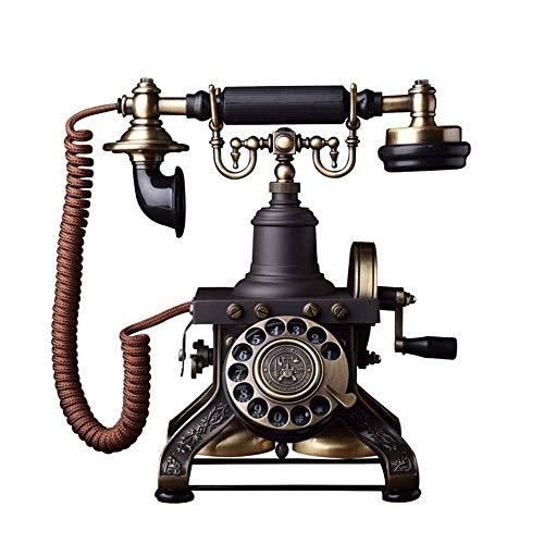 Teléfono Estilo antiguo con cable LANDLINE Teléfono Vintage 1892 Antiguo Marcador Rotario Clásico Vintage, Vintage Europeo Tono de llamada Mecánica Ministerio de Inicio Línea, Adecuado para Decoración