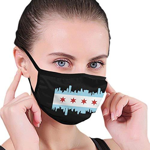 Chicago Vlag met stad mannen 'vrouwen' Print warm wasbaar herbruikbare gezichtsbehandeling dragen sjaal afdekking Beanie Cosplay mond-afdekking