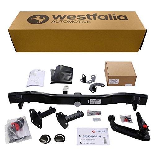 Westfalia abnehmbare Anhängerkupplung für BMW 3er Touring E46 (BJ 01/1999 - 09/2005) im Set mit 13-poligem fahrzeugspezifischen Westfalia Elektrosatz