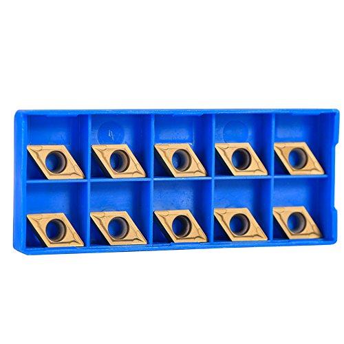 10 Stück goldene CNC-Hartmetall-Drehspitzen Einfügefräser für Drehmaschinenfräswerkzeug DCMT11T304-HM YBC251