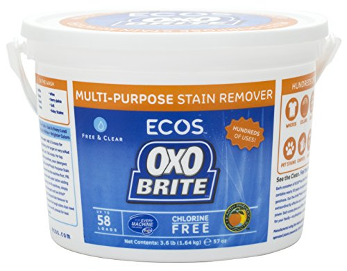 Earth Friendly - OXO Brite Color Safe Whitener and Brightener For Laundry and Stain Removal Fragrance-Free (3.6 Pounds) (2-Pack)