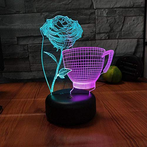 Thé Langue Pensées 3D Visual Night Light Creative Coloré Led Luminaires 3D Nouveauté Led Usb Enfants Table Lampe