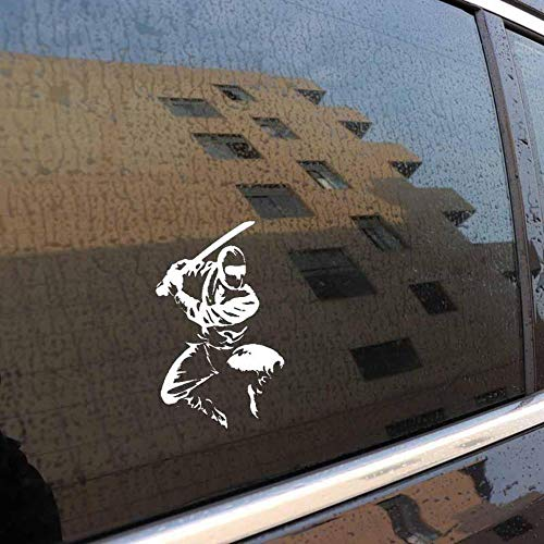 Stukk Sticker Tribal Ninja Killer abstrakte Auto-Fenster-Bumper-Aufkleber, Vinyl-Aufkleber, 11,5 x 17,8 cm - weiß
