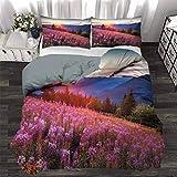 UNOSEKS LANZON - Juego de ropa de cama para niños, diseño de flores medievales, color naranja mostaza