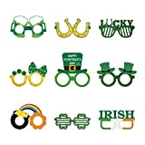 Irish Holidays Día de San Patricio Divertidos Gafas de fiesta Decoraciones de día festivo Gafas de trébol o accesorio de disfraz Festival Fiesta Decoración de eventos