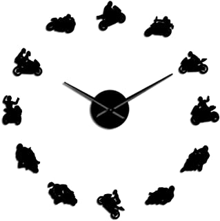 wall clock Motocross Sports Bike Wall Art Home Decor DIY Giant Wall Clock Watch Extreme Sports Motorbike Super Bike Speed ...