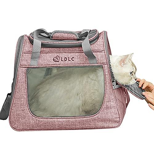 Wuudi Transportbox für Haustiere, Pet erweiterbare Tragetasche, Haustier Träger, Transportbox Oxford Gewebe, faltbar, für Hunden oder Katzen