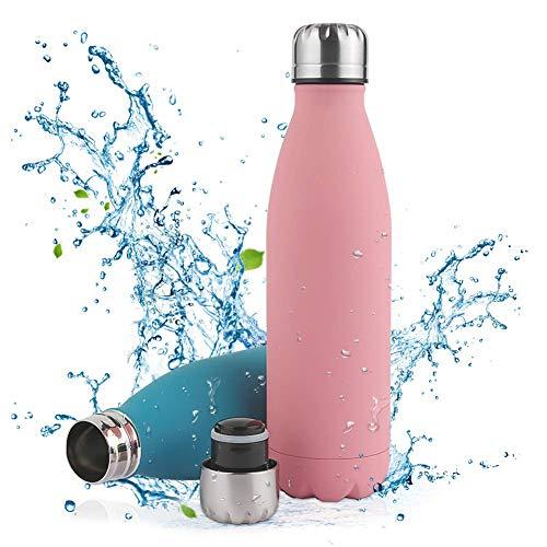 Nasharia Edelstahl Trinkflasche, Vakuum Isolierte Wasserflasche - 500/750ml - BPA Frei, Thermosflasche für Kinder, Büro, Schule, Fitness, Sport, Outdoor, Camping