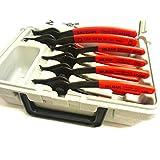 MILBAR 4645R KIT スナップリングプライヤー 外径内径切替式 6本セット 0度 45度
