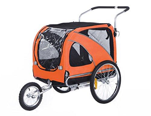 leonpets 2 in 1 Haustier Transportwagen für Jogger/Fahrradanhänger 10202 (orange)
