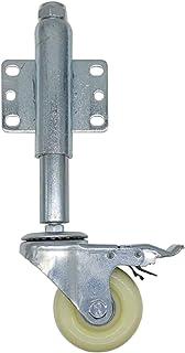 "3"" Nylon Metal Gate Wheel, Heavy Duty Flat Gratis Veerbelast Swivel Caster Met Brake, 220 Pond Laadvermogen Veerbelast Cas..."
