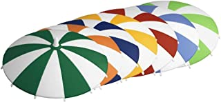 homeXpert 3065170706 glazen deksel drinkglazen deksel parasol, Ø 11,5 cm (kleur willekeurig), stuk:6 stuks
