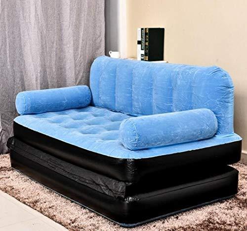 Clkdasjd Outdoor Lazy aufblasbares Schlafsofa Wohnung Klappbett Multifunktionssofa blau
