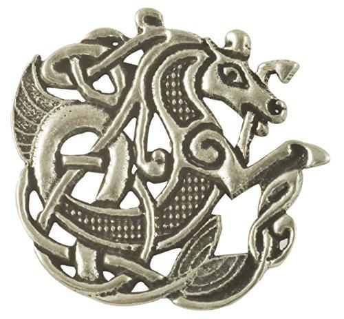 Celtic Sea Horse Pewter Brooch
