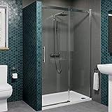 Diamond 1200mm Sliding Shower Enclosure Door 8mm Safety Glass Screen Panel Frameless