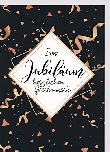 A4 XXL Jubiläumskarte Schwarz Kupfer grafisch